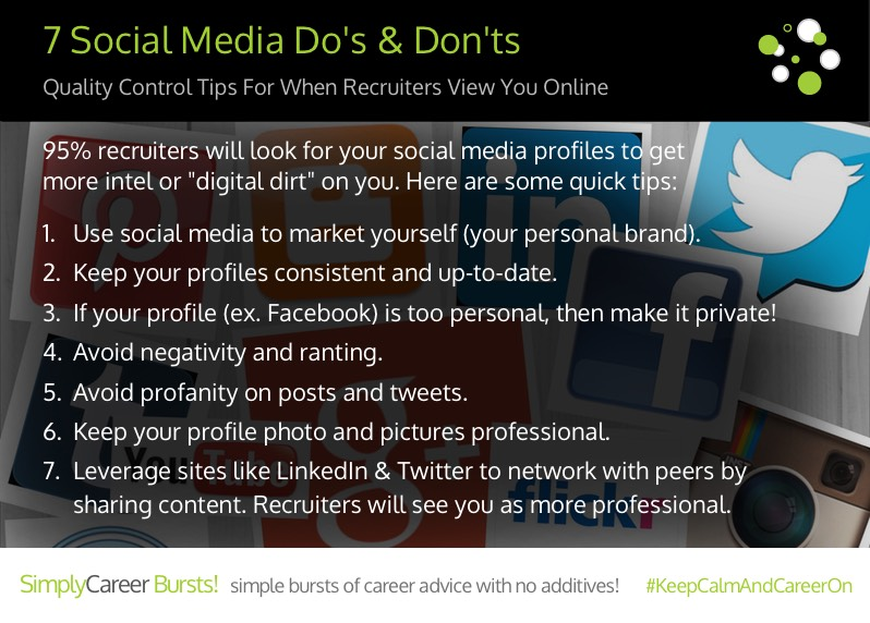 Perfect View Larger Image Simply Career Bursts Social Media Dos And Donts Job Search