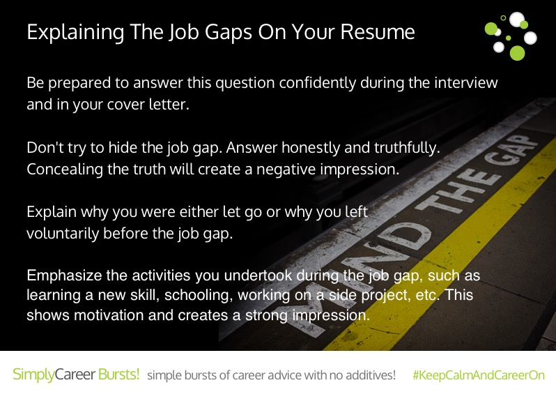 explaining the job gaps on your resume simplycareer